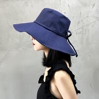 遮阳帽女夏季渔夫帽户外百搭出游可折叠太阳帽女遮脸