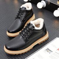 棉鞋男冬季保暖加绒男鞋子2018新款韩版工作休闲二棉加厚雪地短靴