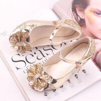 童鞋女童皮鞋春季儿童公主鞋水钻水晶鞋高跟韩版单鞋