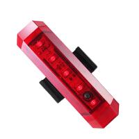 自行车尾灯 夜间智能USB充电激光感应刹车山地车配件 玫瑰红 长80mm*宽23mm