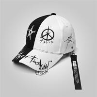 帽子男士夏季潮牌韩版鸭舌帽男潮棒球帽青年百搭遮阳帽学生嘻哈帽