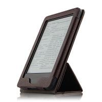 Kindle Paperwhite1/2/3保护套6寸电子书壳阅读器皮套支撑套 棕色【Kindle Paperwhit
