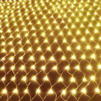 LED彩灯闪灯串灯渔网灯圣诞水灯装饰窗帘灯网状彩灯b