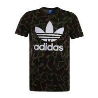 Adidas阿迪达斯男装 2017夏季新款三叶草迷彩运动休闲短袖T恤 BK5861