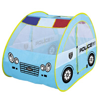 新款儿童游戏帐篷屋 宝宝房子海洋球池玩具屋卡通男孩警车帐篷儿童玩具 蓝