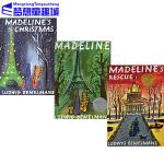 圣诞节绘本 英文原版绘本 Madeline 玛德琳的狗狗救星儿童 三册合售 Ludwig Bemelmans 廖彩杏书