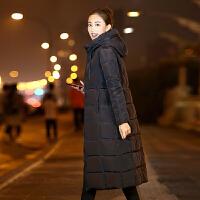 羽绒女中长款过膝韩版冬季新款棉衣修身棉袄外套加长加厚