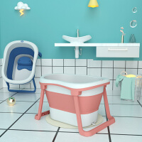 曼龙婴儿浴盆宝宝洗澡盆折叠浴桶新生儿童大码泡澡游泳桶家用大号