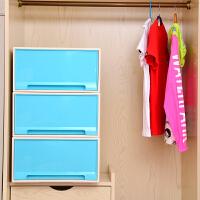 [当当自营]百草园(bicoy)塑料收纳箱 可组合收纳柜抽屉柜 抽屉式储物柜 40L 1个装 孔雀蓝