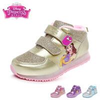 迪士尼Disney童鞋17新款儿童运动鞋格力特闪耀女童公主鞋学生鞋时尚儿童休闲鞋 (3-6岁可选) DS2096
