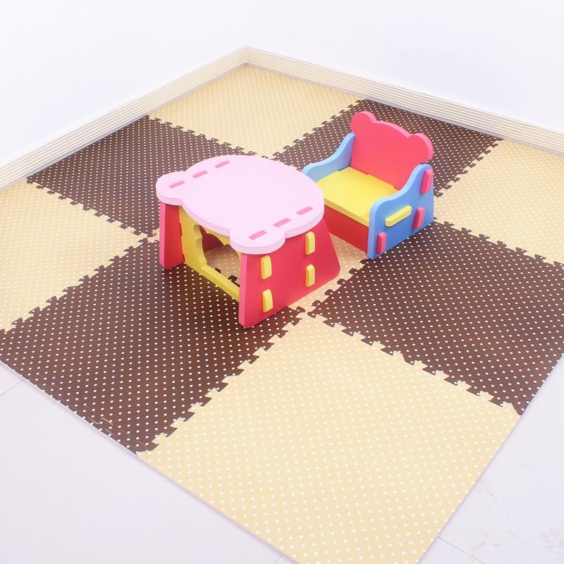 明德拼图地垫大号家用泡沫地垫儿童宝宝爬行垫加厚了拼接卧室无味   环保无味拼接方便颜色温馨加厚居家放心使用