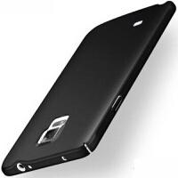 优品三星note4手机壳sm-n9109w保护套smn9108v防摔N9100全包Nt4硬N4薄 全包丝滑硬壳 黑色+