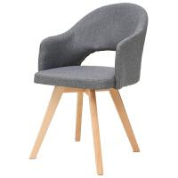 积木部落北欧书桌椅子家用休闲椅电脑椅简约现代椅实木靠背餐椅