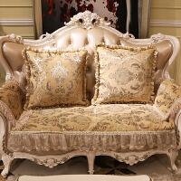 沙发垫欧式防滑四季通用布艺123组合三件套装冬季