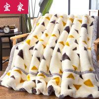 】拉舍尔毛毯加厚双层单人双人春秋冬季盖毯珊瑚绒毯子被子婚 200X230cm 9斤双层加厚