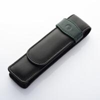 原装正品德国pelikan百利金TG22 小牛皮 真皮笔袋 钢笔笔套 2支装皮套 包邮