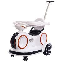 婴幼儿电动汽车四轮遥控车可坐1-3-5岁宝宝电动摩托车小孩玩具车YPMY 标配白色小电瓶 (遥控餐盘推杆)