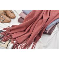 2018韩版秋冬季羊毛围巾女纯色披肩百搭加厚保暖长款披肩两用