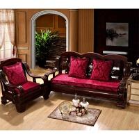 实木沙发垫红木椅沙发坐垫滑海绵垫子三人沙发垫