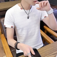 夏季新款男士短袖t恤2018韩版潮流修身半袖学生体恤个性男装衣服