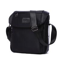 新款尼龙男包牛津纺帆布包包时尚商务运动休闲单肩斜挎包小包 黑色 现货精品