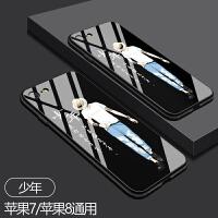 手机壳7plus新款iPhone7男女款个性创意8情侣玻璃高档8x苹果6splus手机壳6s超薄