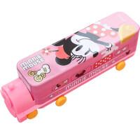 迪士尼文具盒女男孩儿童小汽车三层铁笔盒创意个性双层火车头笔盒韩版可爱文具用品幼儿园小学生多功能铅笔盒
