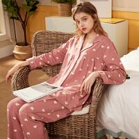 安之伴睡衣女2020新款纯棉睡衣春秋哺乳装女士睡衣月子服宽松孕妇装家居服套装