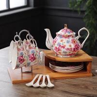 家居生活用品欧式田园陶瓷摆件现代客厅酒柜创意装饰品骨瓷花茶具结婚礼物