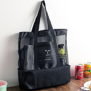 【年货节】欧润哲 大容量保温运动多用收纳袋 出外旅游便携野餐收纳包