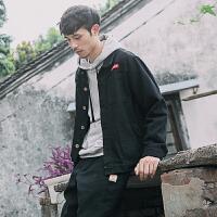 春秋新款韩版夹克工装男士日系牛仔青少年上衣修身薄外套潮流学生