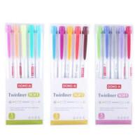 新品东亚荧光笔 柔彩/莹彩/淡彩 5色套装双头涂鸦笔 学生重点记号笔 3款可选