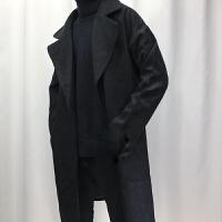 2018新款潮头条2018新款冬季韩版修身中长风衣男呢子青年色外套帅气衣服