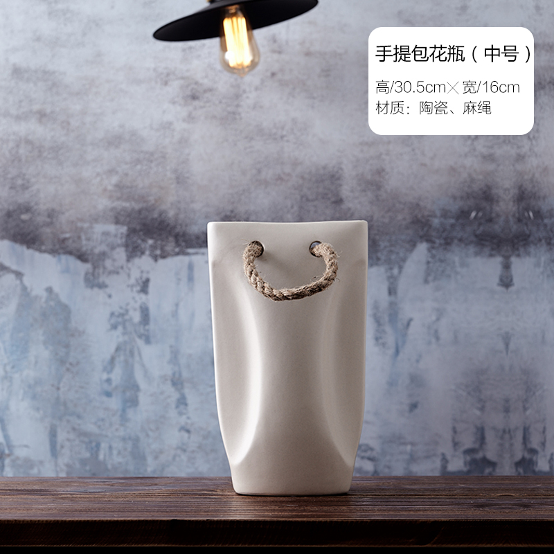 北欧家居软装饰品摆件 现代极简陶瓷花瓶花器客厅台面仿真花花插 发货周期:一般在付款后2-90天左右发货,具体发货时间请以与客服协商的时间为准