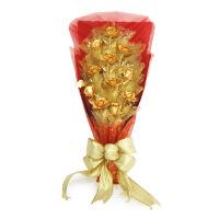 金箔金玫瑰花11支花束 创意新奇情人节金玫瑰婚庆礼品送男女朋友