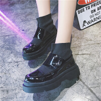 欧洲站马丁靴女英伦短靴2018新款毛线口切尔西靴松糕底短筒靴子女