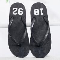 新品人字拖男夏天时尚凉拖鞋男士韩版潮流沙滩鞋学生防滑外穿夹拖