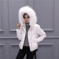 2018 新款新款断码羽绒服女短款加厚大毛领韩版冬装白色短外套性感潮流