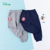 迪士尼Disney童装 男宝米奇休闲裤纯棉鱼鳞布运动裤秋季新款男童长裤193K901