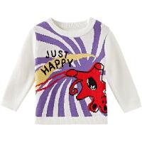 【1件3折价:53.7,可叠券】moomoo童装男婴童毛衣春装儿童毛衫小宝宝新春趣味毛衣