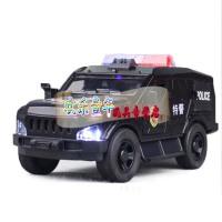 彩珀合金警车玩具猛士特警车 警察稽查车 救护车回力声光玩具 蒂雅多吉普救护车