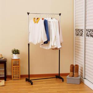 【领券满188减100】ORZ 单杆伸缩晾衣架 落地室内简易挂衣架子 家用升降晒衣架