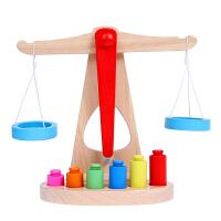 �和�教具木制天平秤玩具����平衡木1-6�q早教游�蚰泻���
