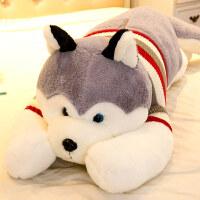 公仔布娃娃大号熊可爱毛绒玩具狗狗女生睡觉抱枕送女友女孩 哈士奇(可拆洗)