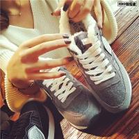 欧洲站秋冬季新款真皮加厚运动鞋女低帮加绒平底板鞋舒适休闲女鞋