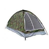 户外用品野营装备小帐篷单人1-2人野外单兵全套露天露营 单层军绿色+灯+充气垫