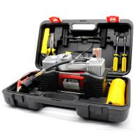 车载充气泵双缸 小汽车打气泵电动车用打气筒12V轮胎便携加气泵