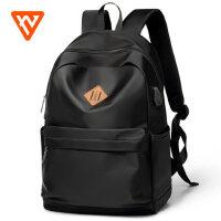 第九城时尚潮流双肩包 男韩版大学生校园休闲书包男士高中旅行背包