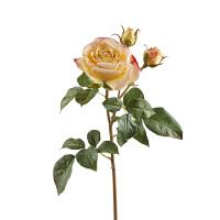 美式仿真玫瑰假花束客厅装饰花摆件绢花家居饰品摆设