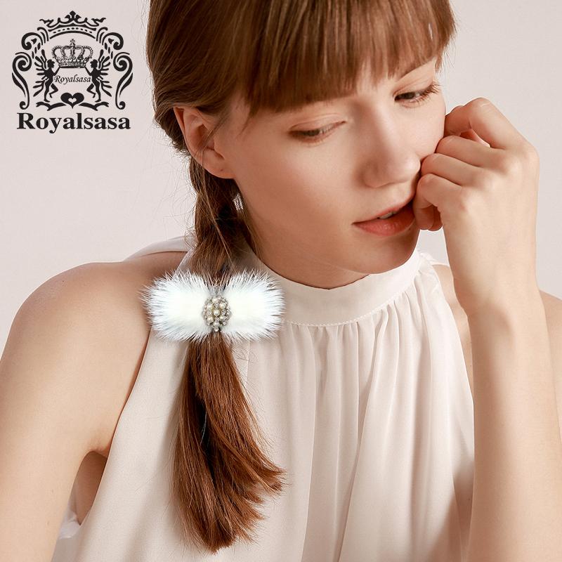 皇家莎莎毛毛球橡皮筋发圈发绳新款头饰韩国扎头发马尾头绳发饰品